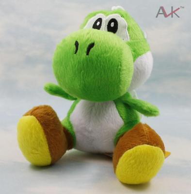 6'' Super Mario Bros Plüschtiere Puppen Stofftier Figure Toy Sitting YOSHI Green Super Mario Plüsch-puppen