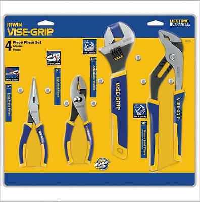 Irwin Vise-Grip 586-2078705 4 Piece Pro Plier Set 6 Inch Ln Slip-10 Inch Adj Gro 4 Piece Vise Grip Plier