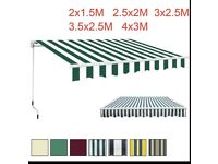 Green white Awning 3x2.5M never used