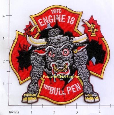 Virginia - Virginia Beach Engine 18 Ladder 8 VA Fire Dept Patch - Eight Ball
