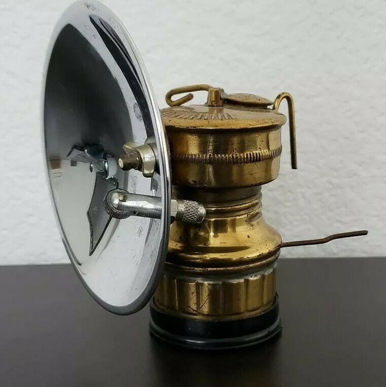 Vintage BUTTERFLY TRADE MARK Carbide Lamp Safesport MFG CO. Antique