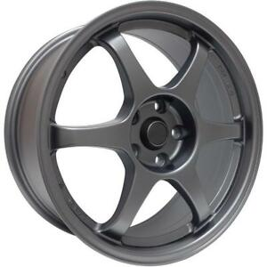 BRZ FT86 FRS 16x7 5x100 73 bore 38gunmetal $480 for 4 clearance ssr type c style