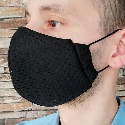 M Coolmax® Mesh Arbeitsmaske 8⏱ Mundschutz maske schwarz atmungsaktiv sport