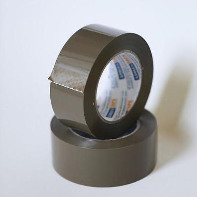12 Rolls Premium Brown Carton Box Sealing Packing Tape 2 Mil 2x110 Yard