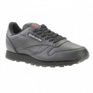 989a4f2a Reebok Classic Leather - Men Shoes- Black UK 9 EU 43 Js40 84 | eBay