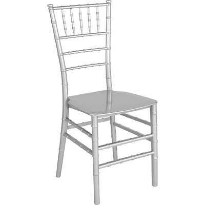 Hercules Series Silver Resin Stacking Chiavari Chair