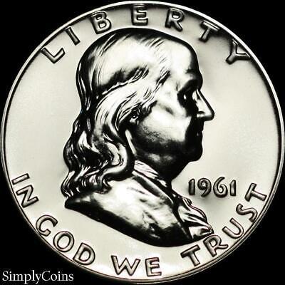 1961 Franklin Half Dollar ~ GEM Proof Uncirculated ~ 90% Silver US -