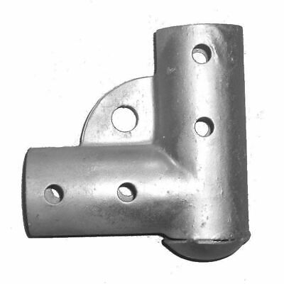 Residential Pressed Steel Chain Link Gate Corners, Galvanized, Fits 1-3/8