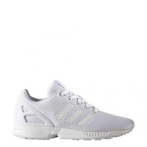 watch 17128 0b5ea adidas Originals ZX Flux GS Running Trainers in White S81421 UK 5 EU 38  4055011188113