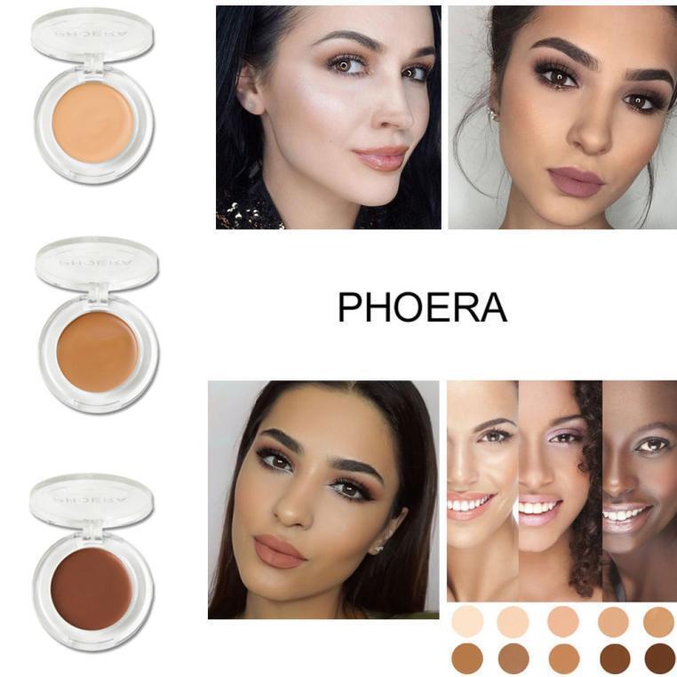 PHOERA Face Makeup Concealer Foundation Palette Creamy Moisturizing Concealer