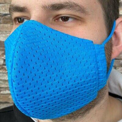 XL Coolmax® Mesh Arbeitsmaske 8⏱ Mundschutz maske blau atmungsaktiv büro Sport