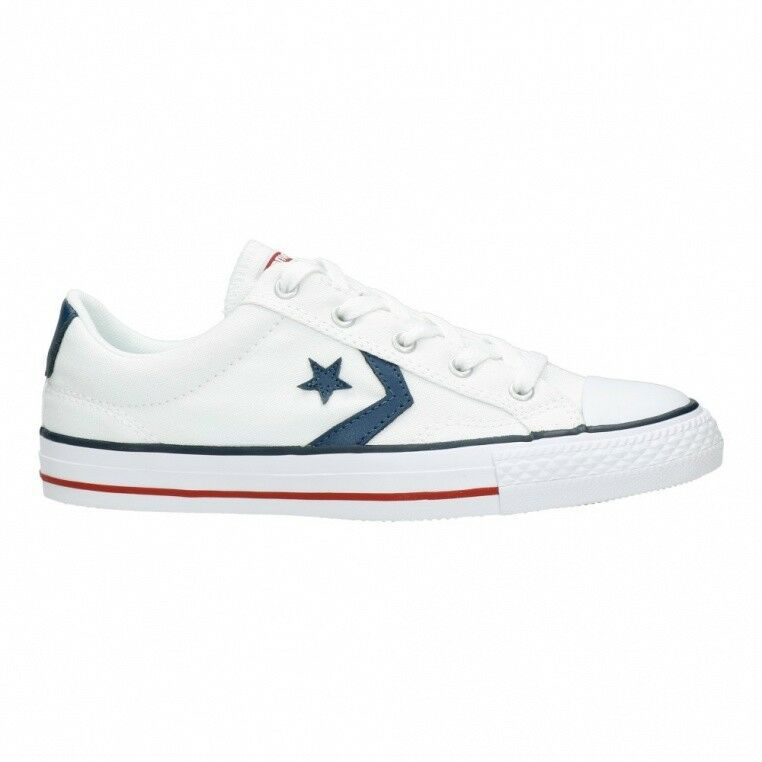 7794b0a50f1a8b Converse Cons Star Player Ox Unisex Trainers Canvas White Shoes 4 UK ...