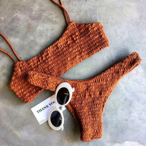Padded Bra Bikini Set Swimsuit Women Bandage Push-up Triangle Swimwear Bathing