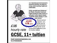 GCSE, 11+ tuition