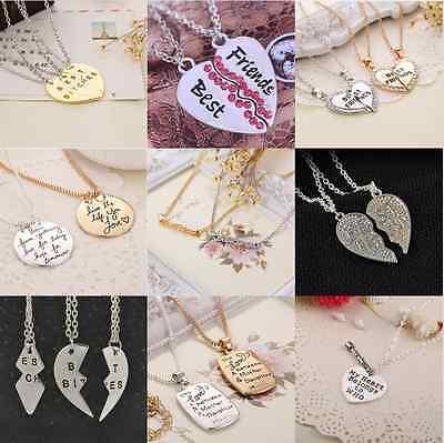 BFF Best Friends Forever Part Love Break Heart Pendent Friendship Necklaces - Best Friends Forever Necklaces
