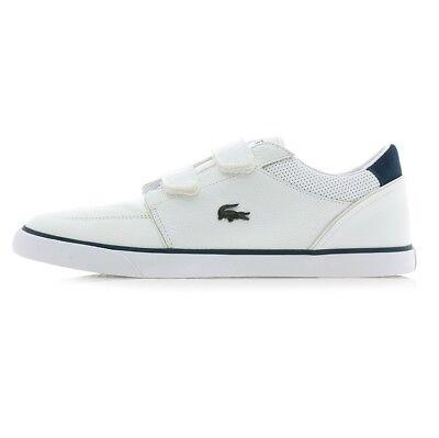 Men Lacoste Bayliss Strap Sneaker 7-36CAM0075042 White Navy 100% Original New