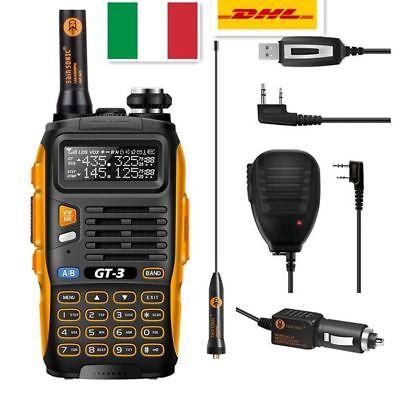 Baofeng/Pofung *GT-3 Mark II* + Cavo USB +Speaker Ricetrasmittente Walkie Talkie