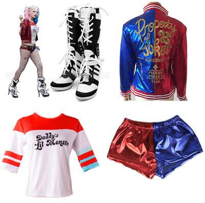 Damen Joker Cosplay Kostüme T-shirt Schuhe Halloween Karneval Fasching - Joker Kostüm Schuhe