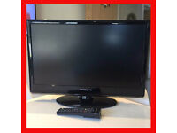 "25"" LCD 1080P Full HD Hanspree TV / PC Monitor HDMI plasma remote control television stand bedroom"