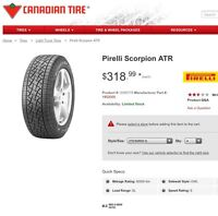 Pirelli Scorpion ATR 275/55R20 off FX4 appearance pkg F150 Ford