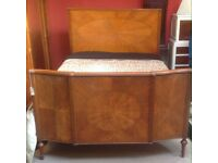 Edwardian satinwood double bed