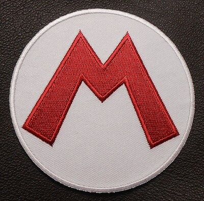 SUPER MARIO BROTHERS LETTER M HAT LOGO HALLOWEEN COSTUME UNIFORM IRON ON PATCH