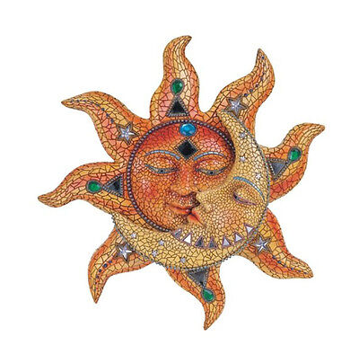Celestial Sun Moon Mosaic Wall Art Hanging Deck Patio Yard Porch Garden Fence - Sun Mosaic
