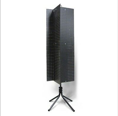 4 Sided Black 14 Peg Board 1 Oc Floor Spinner Display Rack With 61 14 High