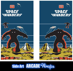 Space Invaders Arcade Side Art Panel Stickers Laminated ...