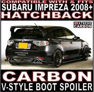 Carbon V-Style WRC Rear Boot Spoiler FOR Subaru Impreza 2008+ GRB Hatchback 08+