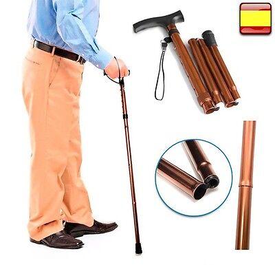 Baston para andar plegable altura regulable aluminio bastón de apoyo BASTÓN