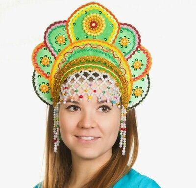 Kokoshnik Traditional Russian Folk Costume Headdress. Elena Кокошник Drag Queen - Traditional Russian Costume