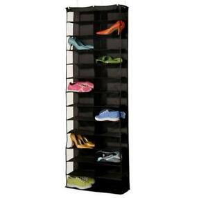 Over the Door Hanging Shoe Organizer Storage Holder Rack BLACK