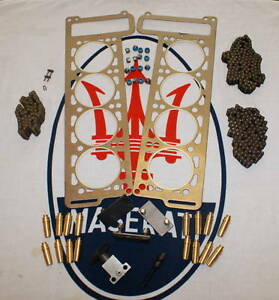 MASERATI-MEXICO-INDY-4-7-4-9-SS-ENGINE-CHAIN-TENSIONER-GUIDE-HEAD-GASKET-KIT