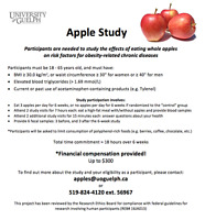 Recruiting participants for Apple Study! Up to $300 compensation