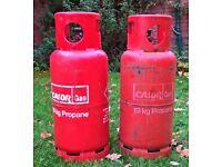 2 x Calor Gas Bottles - 19Kg Propane - empty