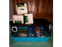 Second hand hamster cage and stuff
