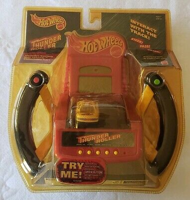 Vintage Hot Wheels Thunder Roller Handheld Racing Game New in Pkg 1999 Mattel