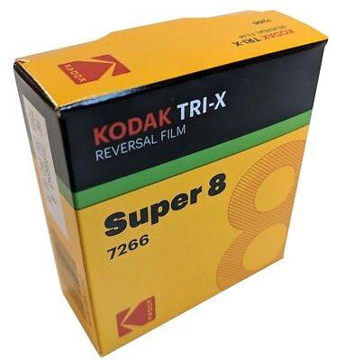 Kodak Super 8mm Movie Film Tri-X 7266 B&W rvrsl CAT#1889575
