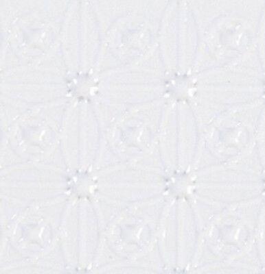 Dollhouse Blue /& White Octagon Molded Vinyl Flooring #HW7324
