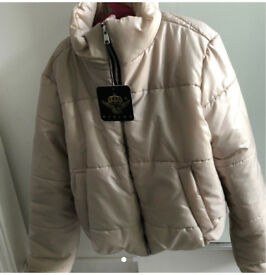 Ladies/girls Cropped puffer jacket size M