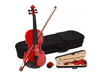 New 4/4 Red Vintage Violin with bow, case and rosin (Bargain)
