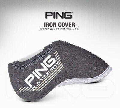 PING 2018 New Premium Original Golf Iron Club Head Cover 9Pcs Gray Neoprene