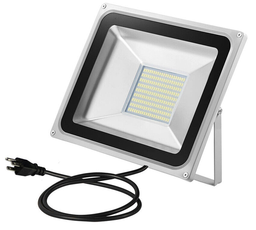 100W LED Floodlight Outdoor Yard Light Flood Cool White Lamp