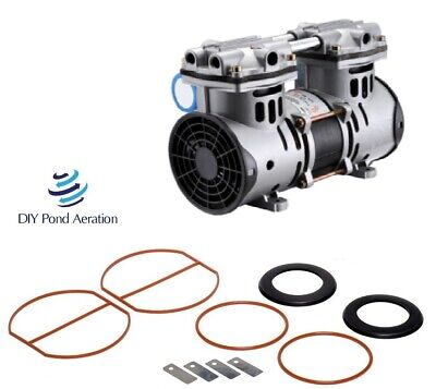 3cfm 70psi New Vacuum Pump 26hg Compressorveneeraerate With Rebuild Kit