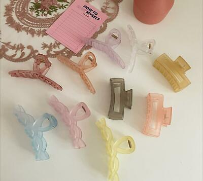 Simple and transparent Neutral Color Hair Clip pin 10p set collection
