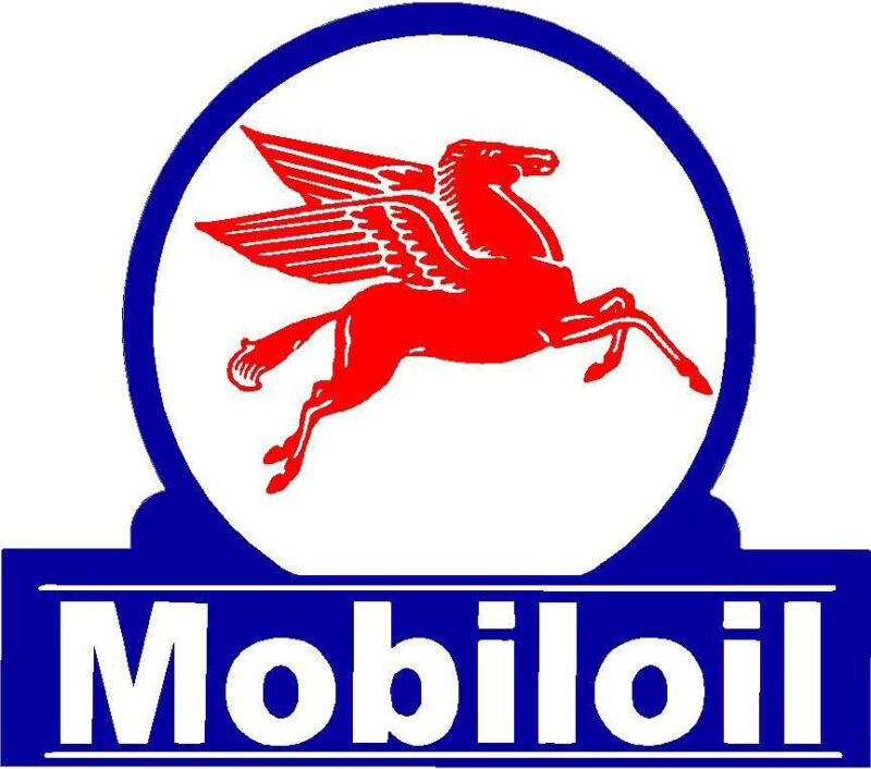 MOBIL OIL  VINYL DECAL STICKER (A3818) 4 INCH