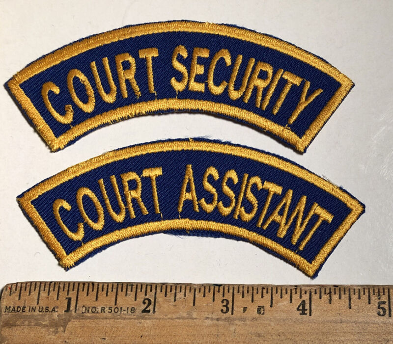Vintage Lot Of 2 Court Security & Assistant New York Sheriff Police Patch