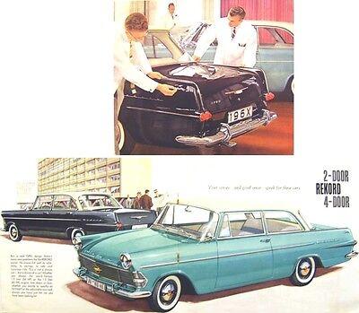 Opel Rekord A Saloon 1.5 & 1.7 circa 1960 Original Sales Brochure in English