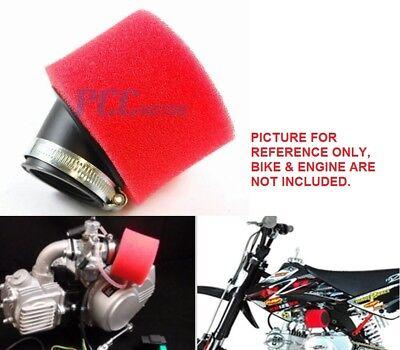 43MM RED FOAM ANGLED AIR FILTER CLEANER KLX110 ATV PIT DIRT BIKE QUAD I AF14